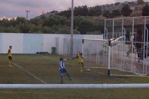 «Κουφό» αυτογκόλ στην Κρήτη! (video)