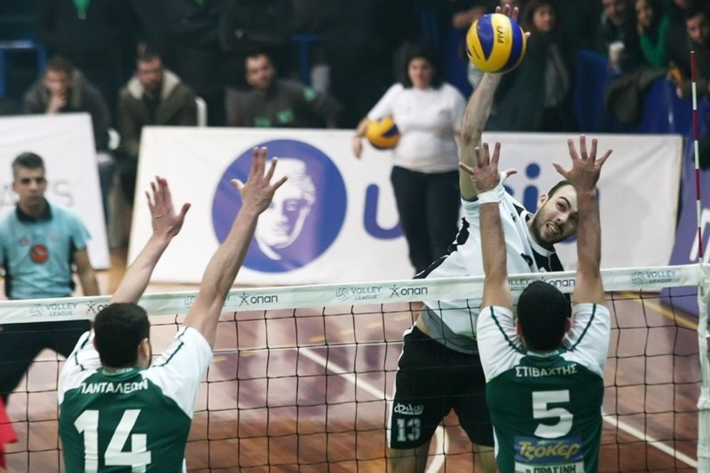 Volleyleague: ΠΑΟΚ - Παναθηναϊκός και Ολυμπιακός - Φοίνικας στα πλέι οφ