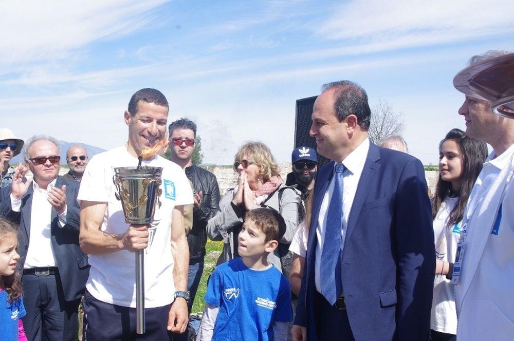 10ος Διεθνής Μαραθώνιος «Μέγας Αλέξανδρος»:Η Αλεξάνδρειος Φλόγα έδωσε το έναυσμα