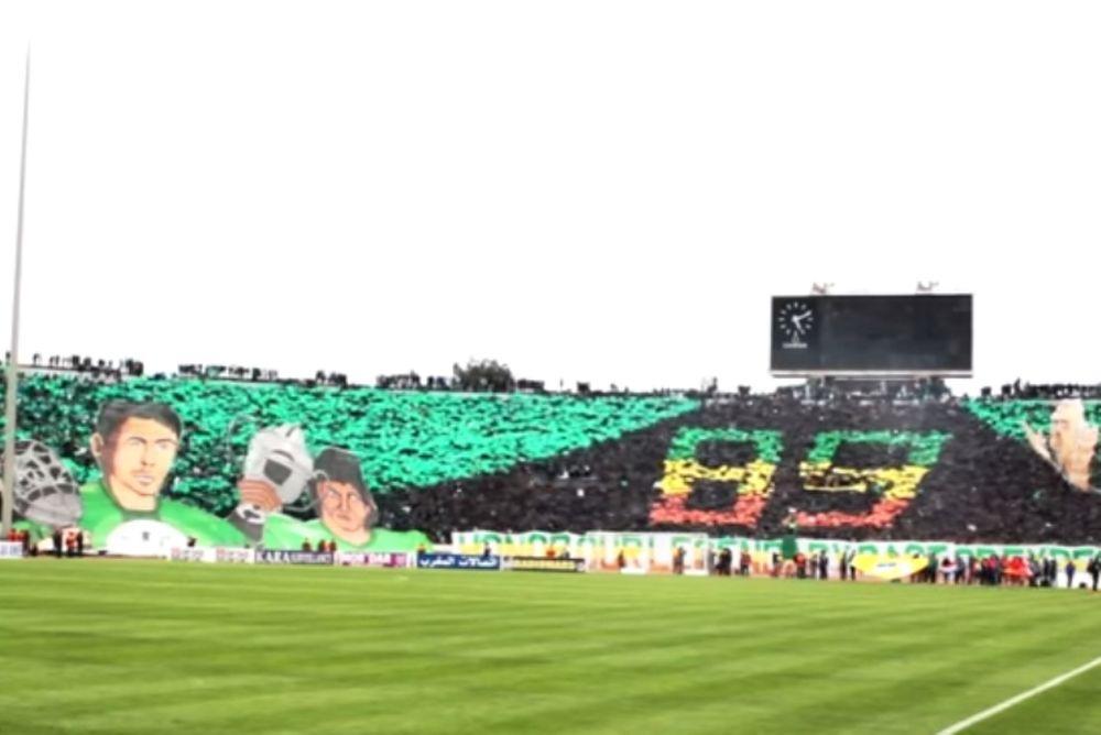 Συγκλονιστική ατμόσφαιρα και μεγαλειώδες κορεό οι οπαδοί της Ράχα Καζαμπλάνκα (video)