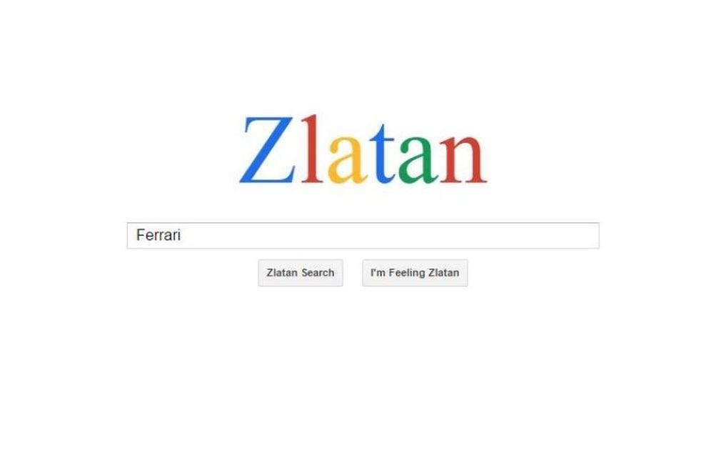 Ζλάταν Ιμπραΐμοβιτς: Μιμείται... την Google ως... Μηχανή Αναζήτησης!
