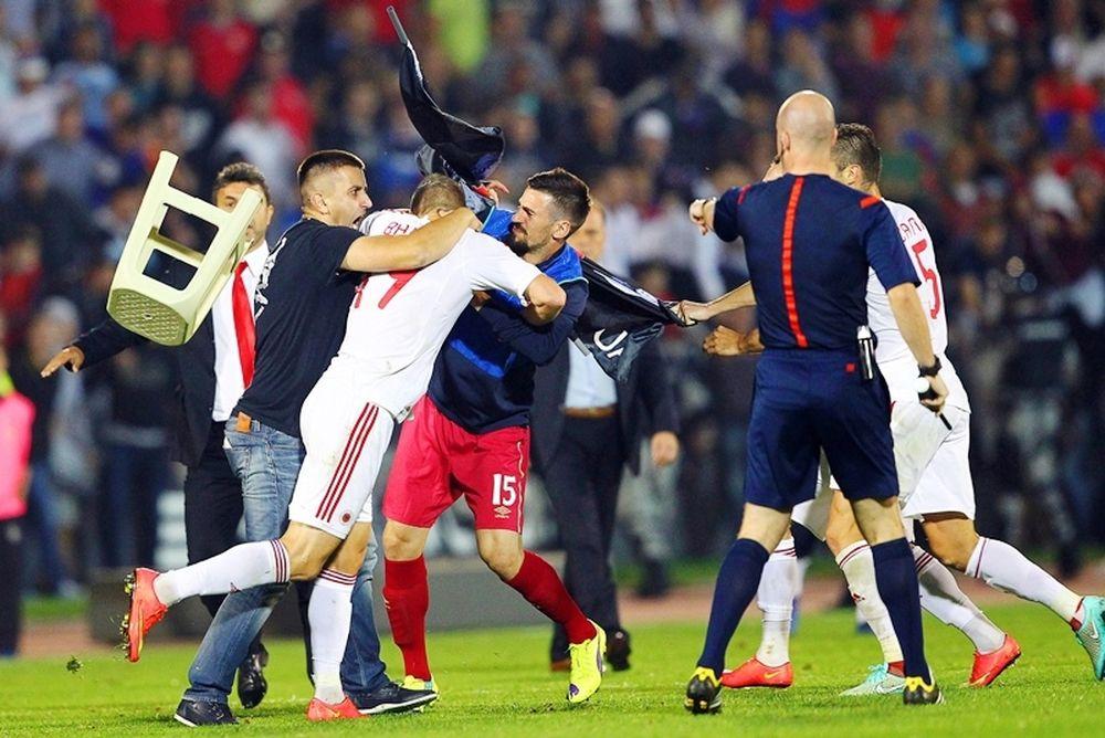 Δικαιώθηκε η Αλβανία από το CAS για τα επεισόδια με Σερβία (photos+video)
