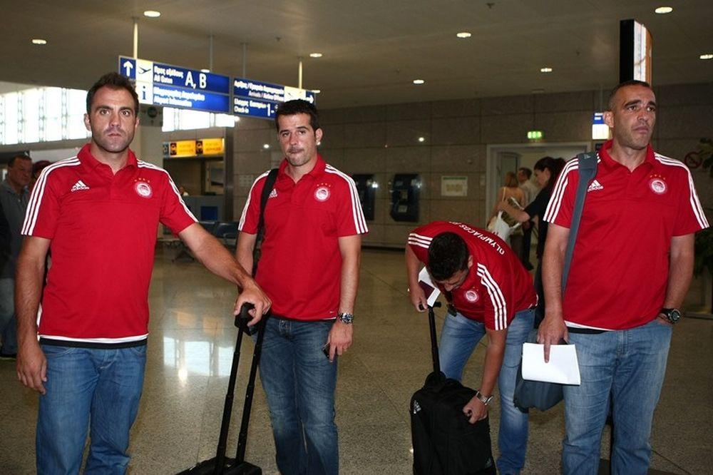 Ολυμπιακός: Αναχώρησε για Μόναχο (photos)