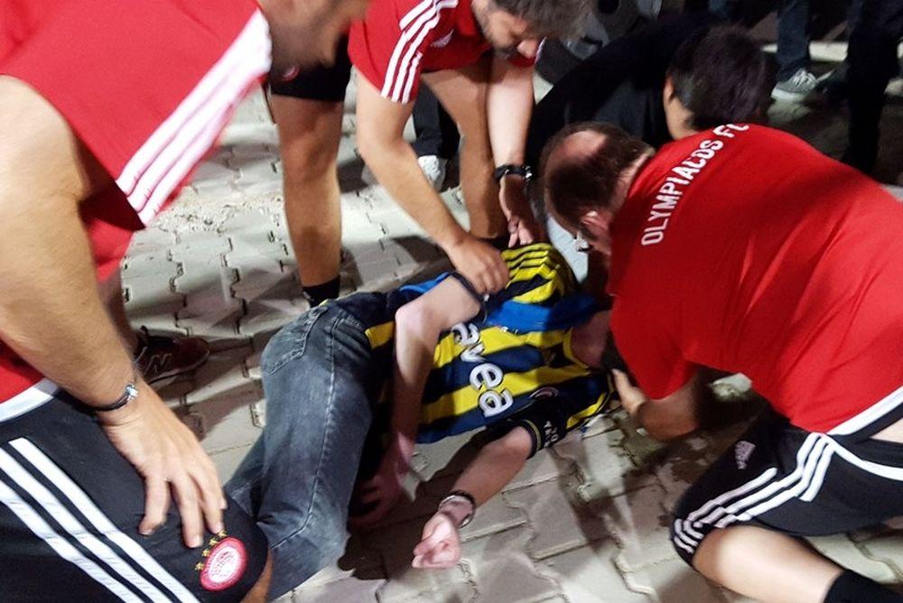 Υπόκλιση σε Ολυμπιακό για την βοήθεια σε οπαδό της Φενέρμπαχτσε! (photos+video)