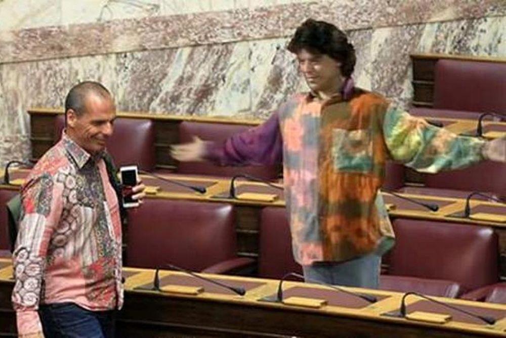 Απίστευτο trollάρισμα για το πουκάμισο του Βαρουφάκη! (photos)