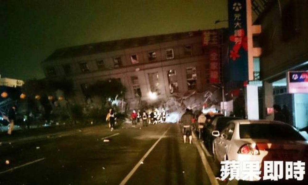Ισχυρός σεισμός μεγέθους 6,4 βαθμών στην Ταϊβάν - Κατέρρευσε κτίριο (pics)