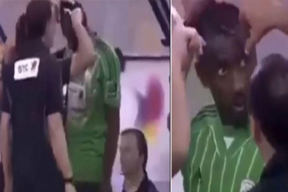 Δεν υπάρχει: Κούρεψαν παίκτη την ώρα του αγώνα! (video)
