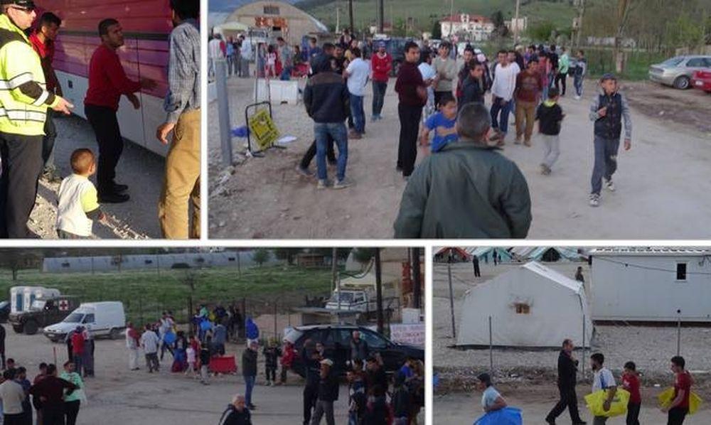 Επεισοδιακή άφιξη 382 προσφύγων στον Κατσικά Ιωαννίνων