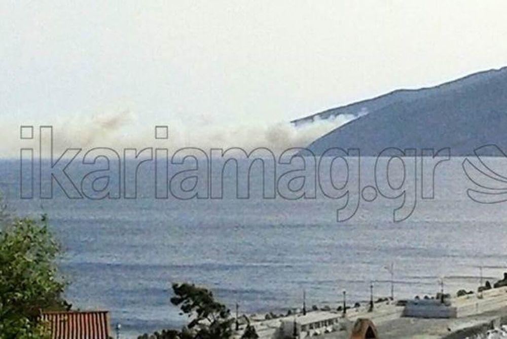 Συναγερμός: Φωτιά στην Ικαρία - Ενισχύονται οι πυροσβεστικές δυνάμεις