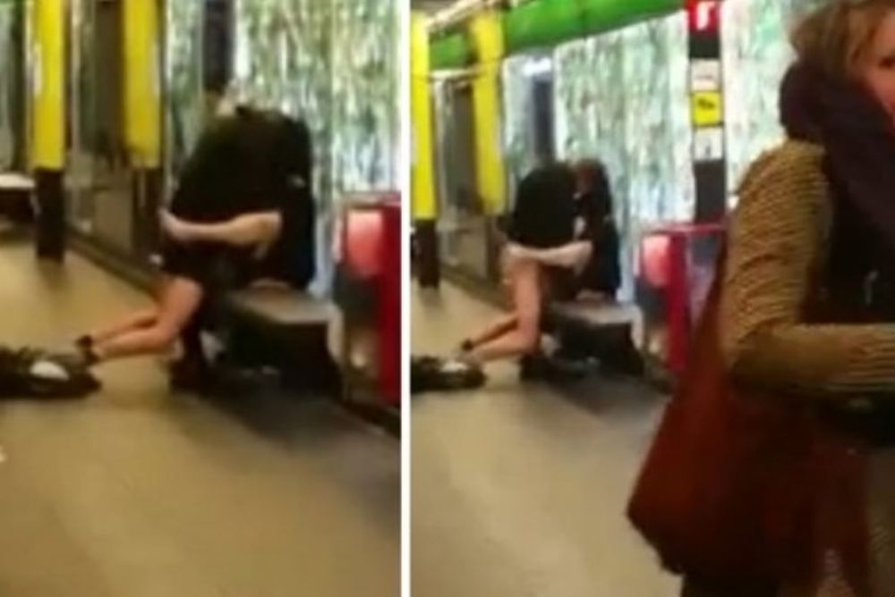 Έκαναν σεξ μέσα στη μέση του μετρό! (video)