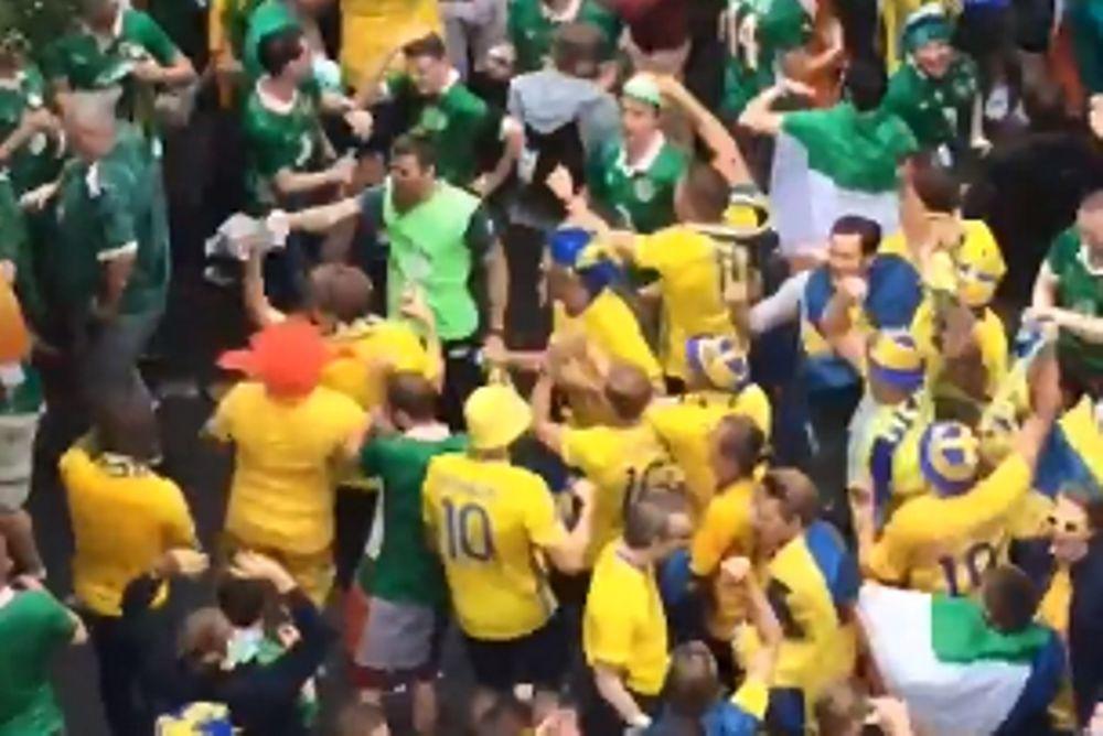 Euro 2016: Ιρλανδοί και Σουηδοί χορεύουν μαζί! Αξίζει να το δείτε (video)