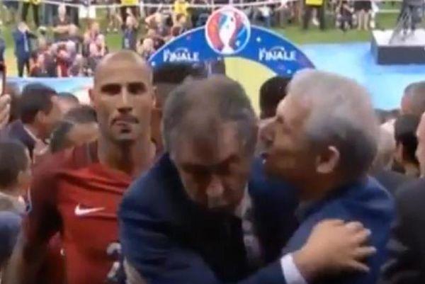 Ο Σάντος αποφεύγει το φιλί του Γκιρτζίκη! (video)