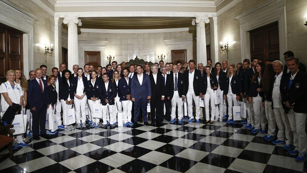 Ο πρωθυπουργός συναντήθηκε με τους Ολυμπιονίκες