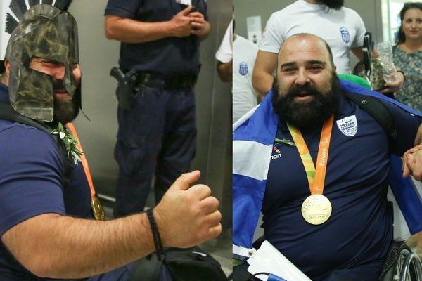 Συγκλονιστικός ο «χρυσός» Μάμαλος: Με ελληνική σημαία και περικεφαλαία! (photos)