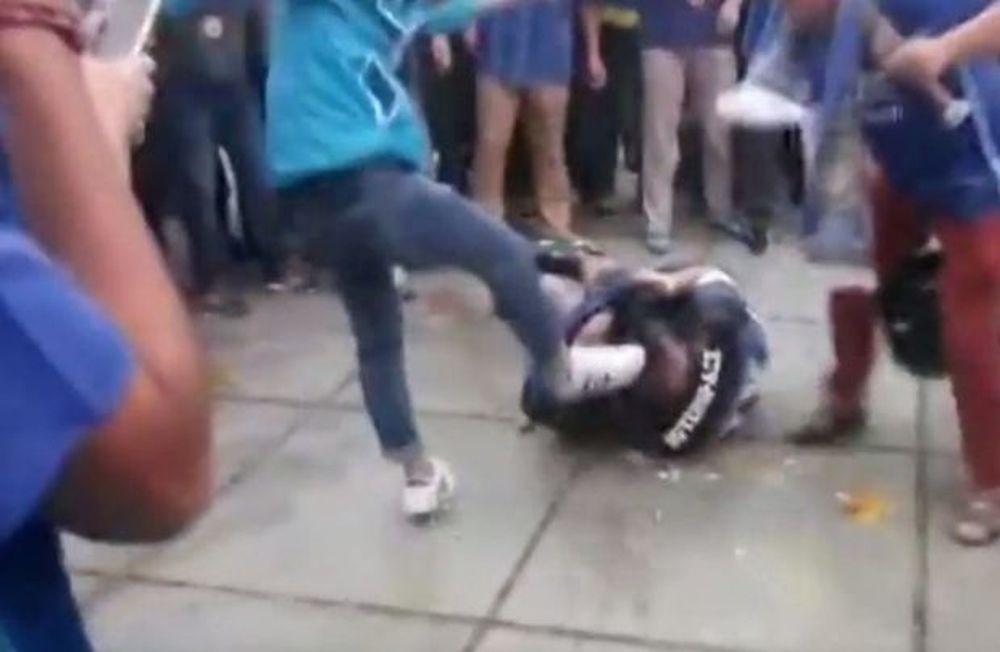 Σοκαριστικό video: Πήγε στο ντέρμπι της Κίνας και τον ξυλοφόρτωσαν!