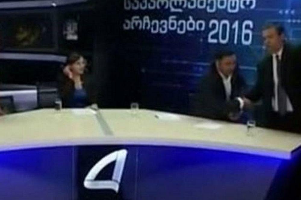 Μπουνιές on air σε debate πολιτικών στην Γεωργία (video)