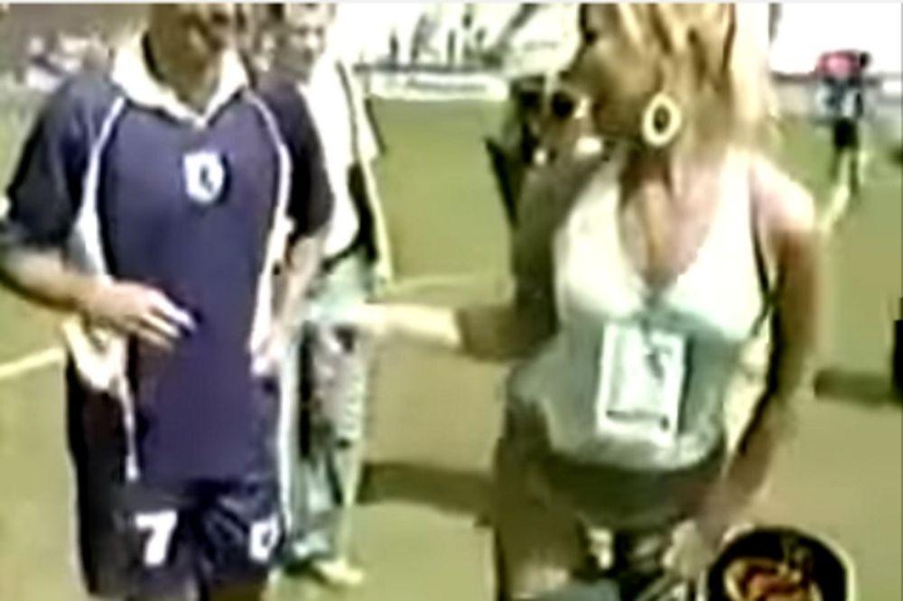 Η... ατίθαση ρεπόρτερ που έκανε το γήπεδο να σηκωθεί στο πόδι (video)