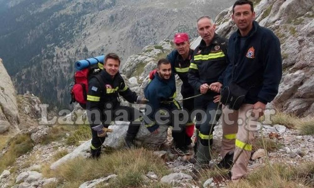Έτσι σώθηκε ο 21χρονος στην Γκιώνα από την 7η ΕΜΑΚ Λαμίας! (vid)