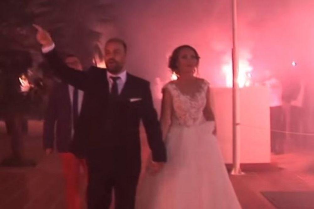 Ο Γάμος της Χρονιάς: Με καπνογόνα και πολύ… ΠΑΟΚάρα! (video)
