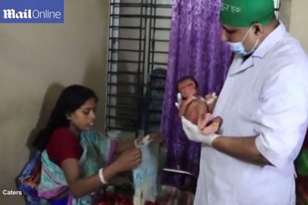 Νεογέννητο σε σώμα 80χρονου (φωτογραφίες & βίντεο)