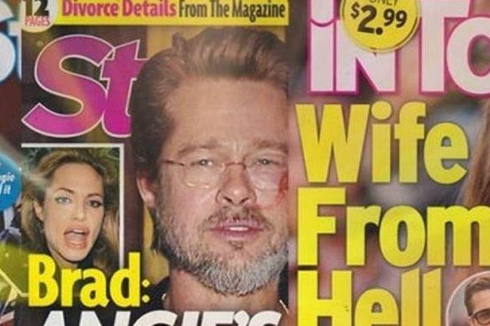 «Τζολί, η σύζυγος από την κόλαση». Τέσσερα tabloid γεμάτα φήμες σε crash-test