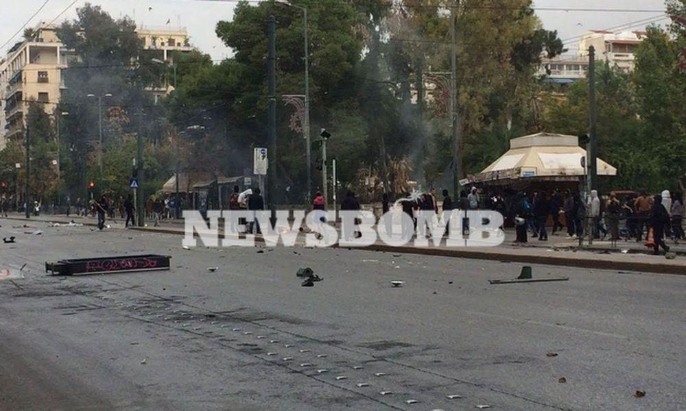 Σοβαρά επεισόδια στο κέντρο της Αθήνας