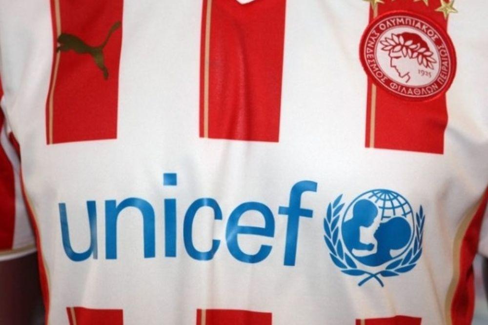 Στο πλευρό της UNICEF ο Ολυμπιακός