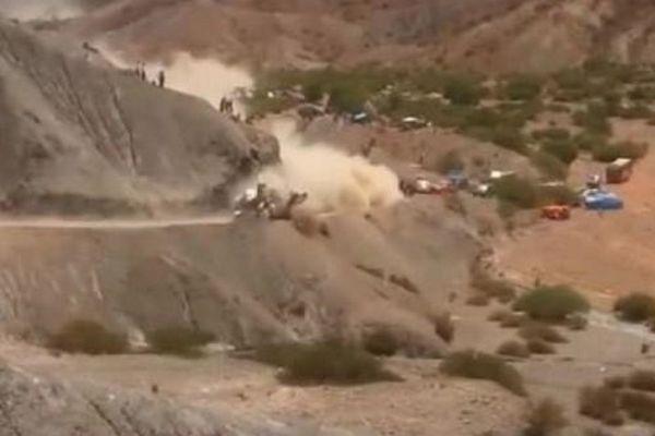 Τρομακτική πτώση του Σάινθ στο ράλι Ντακάρ (video)