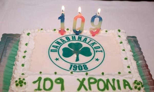 109 χρόνια Παναθηναϊκός: Έσβησε τα κεράκια ο Σαραβάκος! (pics)
