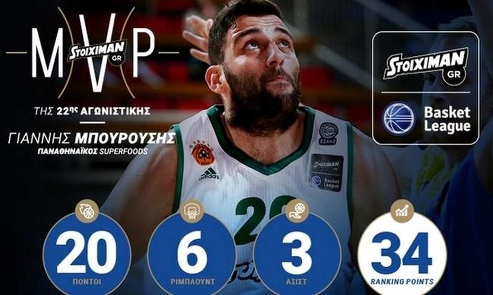 Ξανά MVP ο Γιάννης Μπουρούσης
