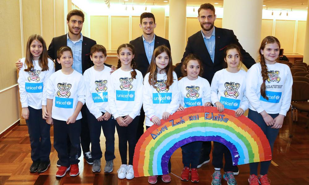 Ο Ολυμπιακός στον τηλεμαραθώνιο της UNICEF για τα παιδιά που έχουν ανάγκη