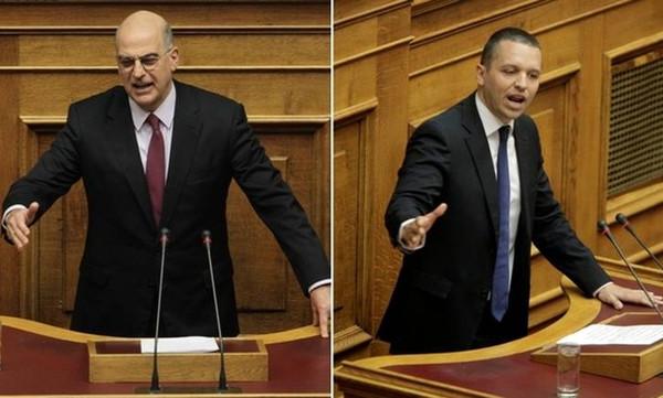 Βουλή: Το βίντεο που ο Κασιδιάρης χτύπησε τον Δένδια!