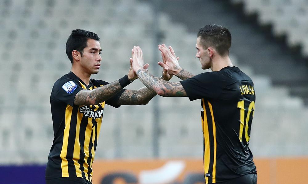 AEK-Λάρισα 4-0: «Ντόρτια» με γκολάρα Μάνταλου και... Αραούχο!