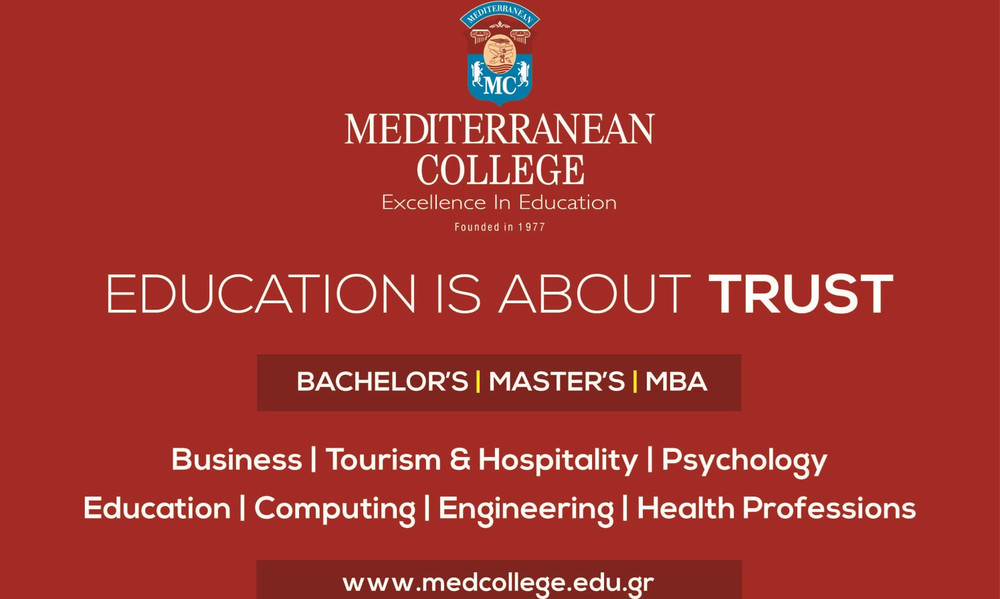 Το Mediterranean College γιορτάζει 40 έτη λειτουργίας & προσφέρει 200 υποτροφίες 50%