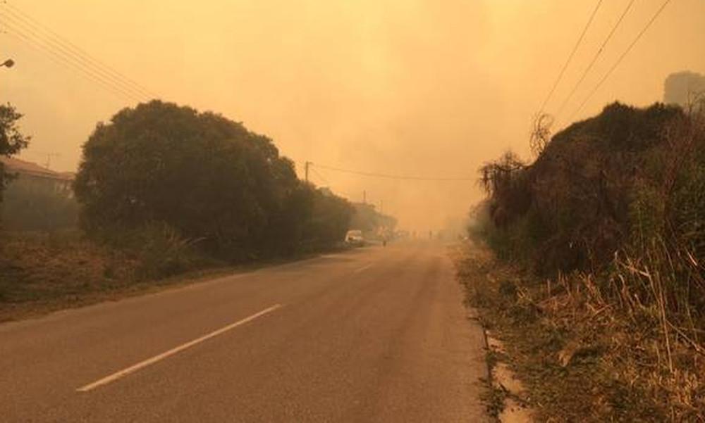 Μεγάλη φωτιά στη Χαλκιδική - Απειλούνται σπίτια (pic+vids)