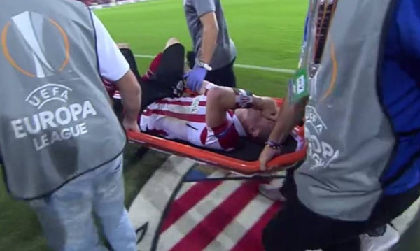 Ανατριχιαστικός τραυματισμός στο Europa League!