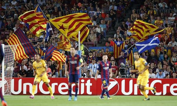 Δημοψήφισμα Καταλονία: Με την ισπανική σημαία στην εμφάνιση της η Λας Πάλμας στην Βαρκελώνη! (pic)