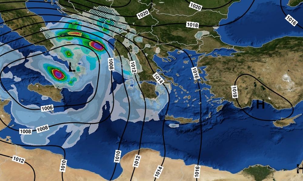 Η «Ευρυδίκη» κύκλωσε την Αττική – Καταιγίδες μέχρι την Παρασκευή