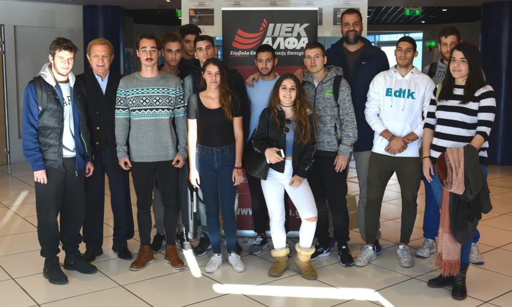 Ο Διεθνής Καλαθοσφαιριστής, Περικλής Δορκοφίκης, μιλά για το «Dual Career» στο ΙΕΚ ΑΛΦΑ Γλυφάδας