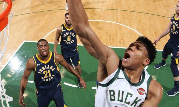 NBA: Τα όργια Αντετοκούνμπο με Πέισερς (video)