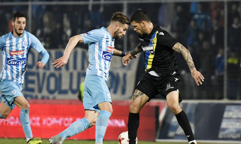 ΠΑΣ Γιάννινα-Αστέρας Τρίπολης 0-0: Άστοχοι στους «Ζωσιμάδες»