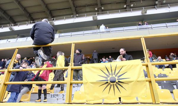 Άρης-ΑΕ Καραϊσκάκης: Το πανό για τη Μακεδονία στο «Κλεάνθης Βικελίδης» (photos)