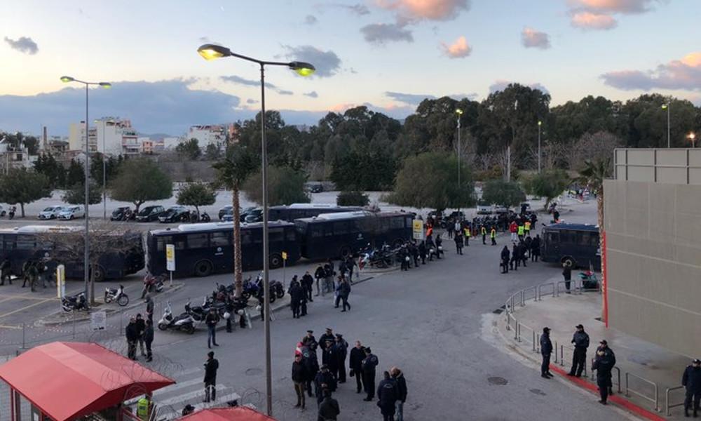 Ολυμπιακός - ΑΕΚ: «Δρακόντεια» μέτρα ασφαλείας στο «Γ. Καραϊσκάκης» (photos)
