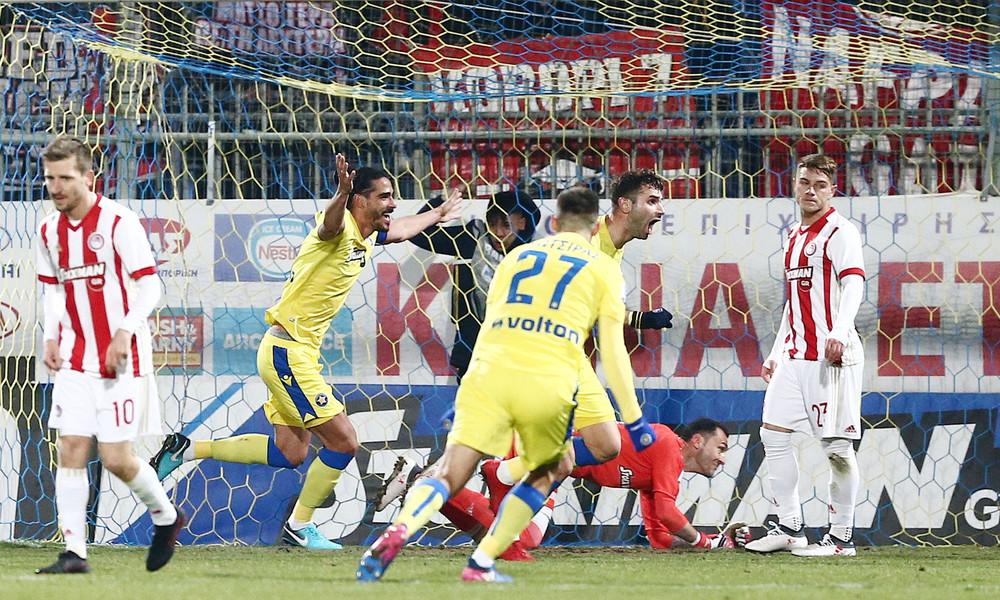 Αστέρας Τρίπολης-Ολυμπιακός 1-1: Μπλόκο-δώρο στον ΠΑΟΚ!