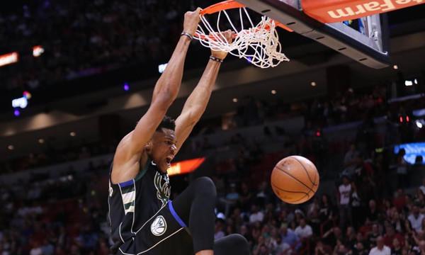 NBA: Το σόου Αντετοκούνμπο με Χιτ (video)