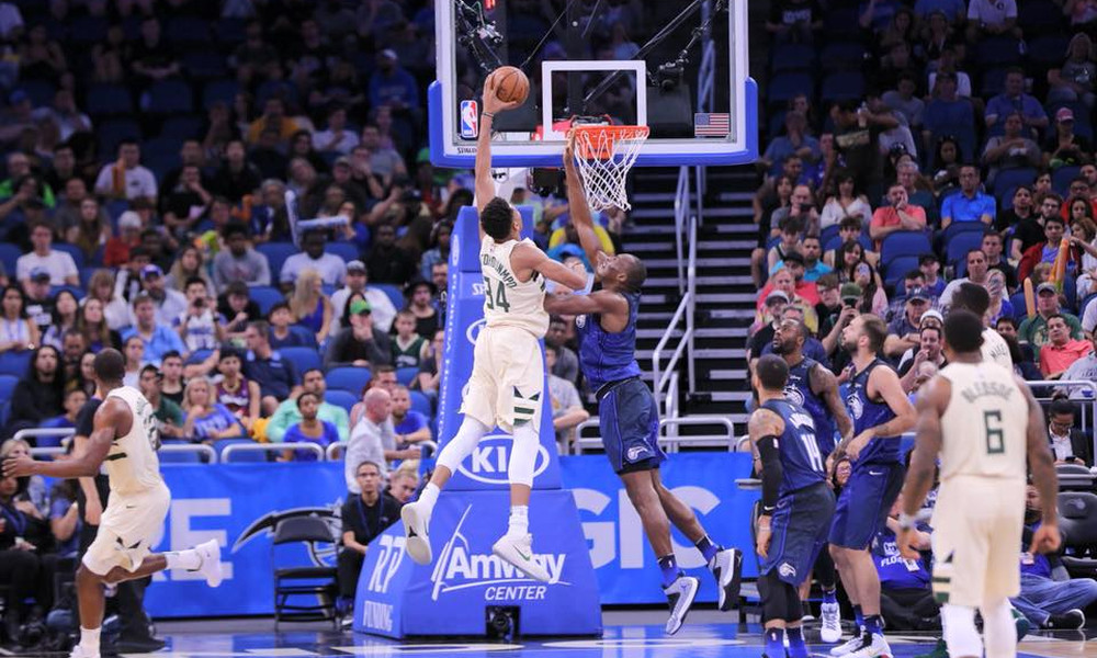 NBA: Μαγικά Αντετοκούνμπο στο Ορλάντο και «διπλό» οι Μπακς (photos+video)