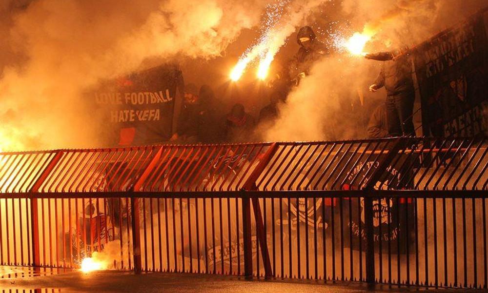 Europa League: Σοβαρά επεισόδια οπαδών Ερυθρού Αστέρα και ΤΣΣΚΑ στο Βελιγράδι (photos+videos)