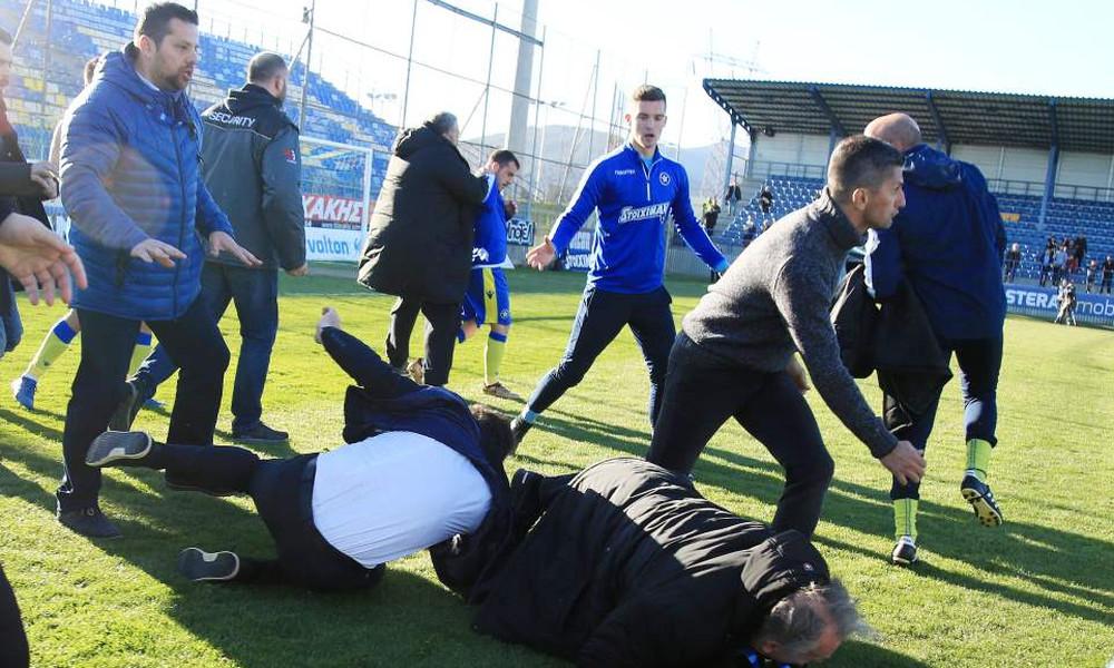 Επεισόδιο στην Τρίπολη: Πιάστηκαν στα χέρια Καλτσάς-Κωνσταντινίδης! (photos)