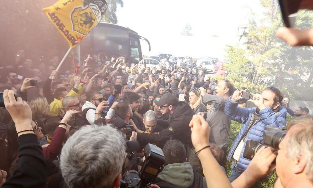ΑΕΚ: Οπαδικές «ντόπες» και χαμός πριν την Τούμπα! (photos, videos)