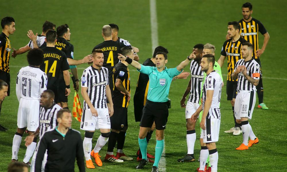 ΠΑΟΚ - ΑΕΚ: «Άκυρο» Κομίνη στο Πρωτοβάθμιο της Super League